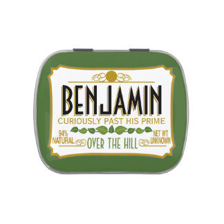 Over the Hill Birthday Party Favor Jelly Belly Tins