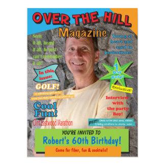 Over the Hill Birthday Party Magazine Cover Invite