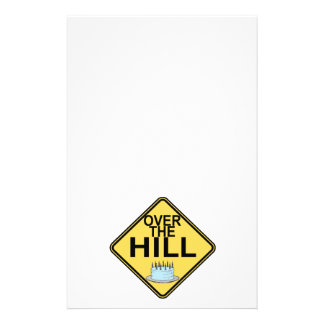 Over The Hill Birthday Stationery