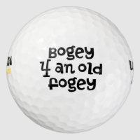 Over The Hill Bogey Golf Balls