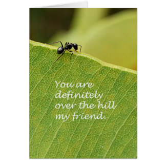 Over The Hill Card
