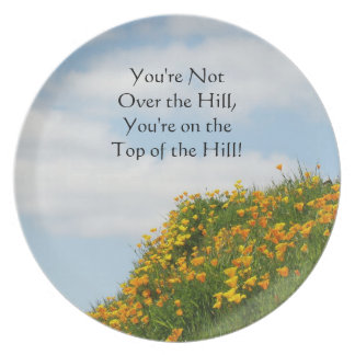 Over the Hill! dessert serving plates Top of Hill