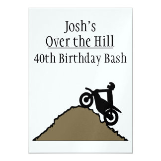 Over The Hill Dirt Bike Rider CSTM Card