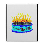 Over The Hill Flaming Birthday Cake iPad Case