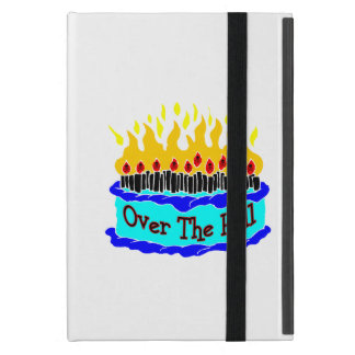 Over The Hill Flaming Birthday Cake iPad Mini Case