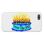 Over The Hill Flaming Birthday Cake iPhone 5 Covers