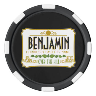 Over the Hill Funny Birthday Party Poker Chips Set