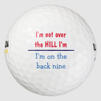 Over The Hill Pack Of Golf Balls