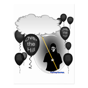 50th grim reaper cards greeting photo cards zazzle over the hill grim reaper birthday postcard bookmarktalkfo Image collections