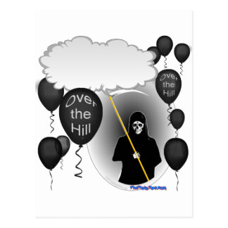 Over the Hill Grim Reaper birthday Postcard