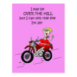 OVER THE HILL HOT MAMA BIKER POST CARD