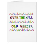 Over the Hill Old Geezer Greeting Card