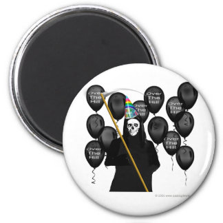 Over the Hill Party 2 Inch Round Magnet
