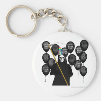 Over the Hill Party Basic Round Button Keychain