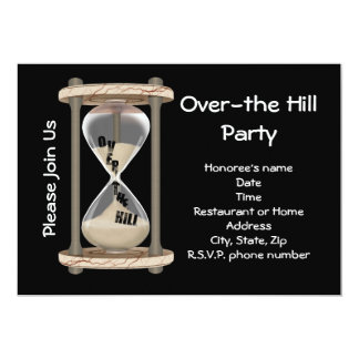 Over-the Hill Party 5x7 Paper Invitation Card