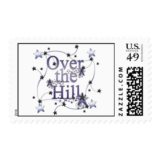 Over the Hill Postage Stamp
