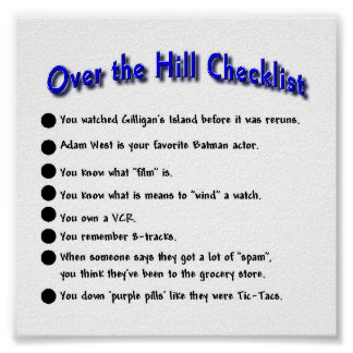 Over The Hill Posters Zazzle