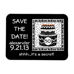 Over The Hill Save Date Magnet
