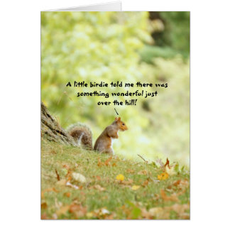 Over the Hill Squirrel Card