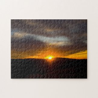 Over the Hill Sunset Puzzles