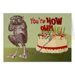 Over the Hill Tarsier Birthday Card