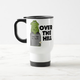Over The Hill Tombstone 15 Oz Stainless Steel Travel Mug