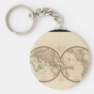 Over the hill World Map 33 Keychain