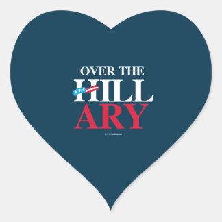 Over the Hillary -- Anti Hillary Heart Sticker