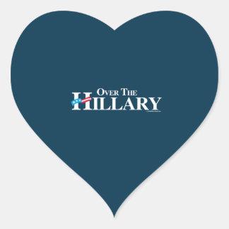 Over the Hillary - Anti Hillary Heart Sticker