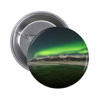Over the Hills Aurora Pinback Button