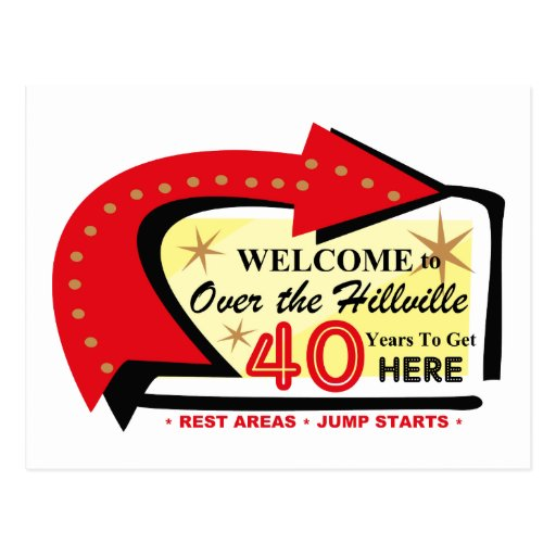 Over The Hillville 40 Postcard