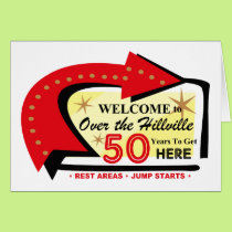 Over The Hillville 50 Card