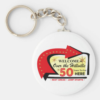 Over The Hillville 50 Keychain