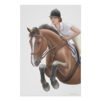 Over the Hurdle Equestrian Print