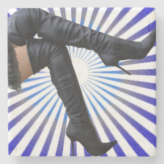 Over the Knee Thigh High Boots - Blue Starburst Stone Coaster