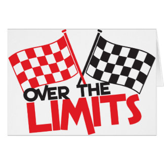 over the limits Racing flag Card