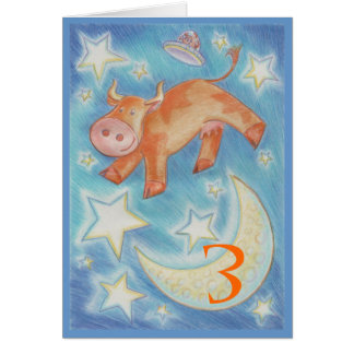 Over the Moon 'Age Happy Birthday' greetings card