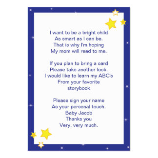 Over the Moon Baby Bring a Book Card Business Card