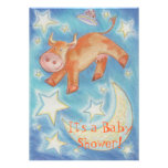 Over the Moon 'Baby shower' invitation