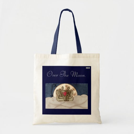 Over the Moon Budget Tote Bag