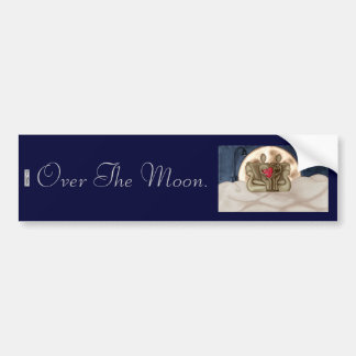 Over the Moon Bumper Sticker