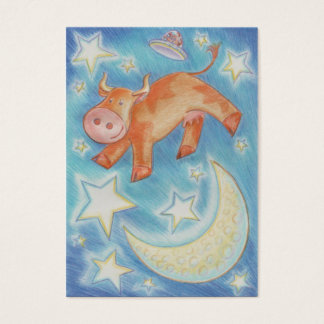 Over the Moon business card chubby