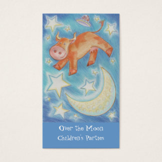 Over the Moon business card skinny