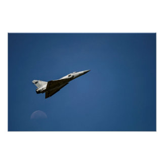 Over The Moon / Fighter Jet Airplane Taking Off Poster