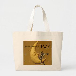 Over the moon for Jazz Large Tote Bag