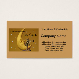 Over the moon for my Clients - Customize Business Card