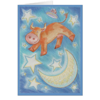 Over the Moon 'Happy Birthday' greetings card