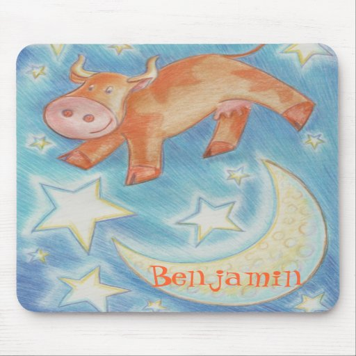 Over the Moon 'Name' mousepad