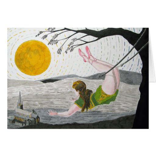 Over The Moon Over You! Card