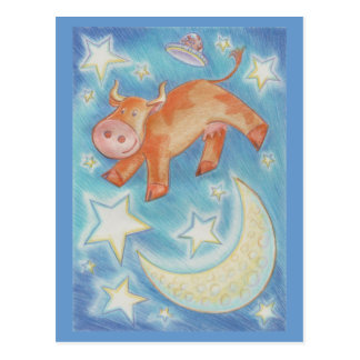 Over the Moon postcard